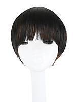 cheap -Women Synthetic Wig Capless Short Straight Black African American Wig Bob Haircut Pixie Cut With Bangs Lolita Wig Party Wig Natural Wigs