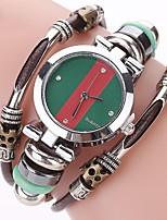 Жен. Повседневные часы Модные часы Часы-браслет Имитационная Четырехугольник Часы Китайский Кварцевый Имитация Алмазный Натуральная кожа
