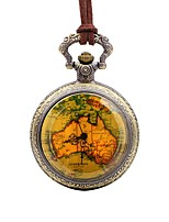 cheap -Men's Pocket Watch Chinese Quartz Large Dial Leather Band Casual Cool Brown