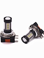 cheap -2PCS 80W 8000LM H15 LED High Beam Headlight/DRL Function LED Bulb