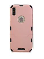 Недорогие -Кейс для Назначение Apple iPhone X / iPhone 8 Ультратонкий Чехол Однотонный Твердый ТПУ для iPhone X / iPhone 8 Pluss / iPhone 8