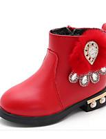 Недорогие -Девочки обувь Искусственное волокно Зима Осень Удобная обувь Армейские ботинки Ботинки Для прогулок Ботинки Сапоги до середины икры