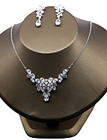 Women's Cubic Zirconia Floral Wedding Party Zircon