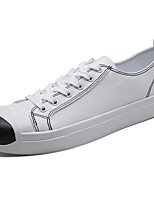 cheap -Men's Shoes Fabric Spring Fall Comfort Sneakers For Casual Black White