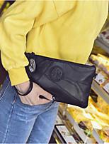 cheap -Women Bags PU Clutch Zipper for Outdoor All Season Black