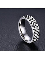 Women's Band Rings AAA Cubic Zirconia Fashion Adorable Cubic Zirconia Titanium Steel Circle Jewelry For Wedding Party