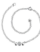 Women's Anklet/Bracelet Silver Plated Simple Lovely Jewelry For Party Casual
