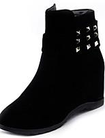 preiswerte -Damen Schuhe Vlies Winter Modische Stiefel Stiefel Runde Zehe Für Schwarz Rot Khaki