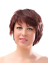 Women Synthetic Wig Capless Short Black Brown Natural Wigs Costume Wig