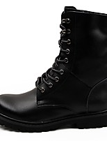 Men's Shoes Nappa Leather Winter Combat Boots Boots for Outdoor Black Brown