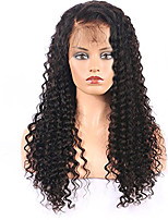Women Human Hair Lace Wig Brazilian Remy Glueless Lace Front 150% Density With Baby Hair Curly Wig Black Short Medium Length Long Virgin