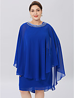 cheap -Sleeveless Chiffon Wedding Party / Evening Women's Wrap With Beading Capes
