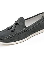 Homme Chaussures Croûte de Cuir Printemps Automne Confort Moccasin Mocassins et Chaussons+D6148 Pour Décontracté Orange Gris Bleu