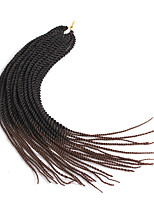 "cheap -Twist Braids 1pc/pack Hair Braid Senegalese Twist 22"" African Braids Ombre Braiding Hair Synthetic Hair Black/Purple Black/Medium Auburn"