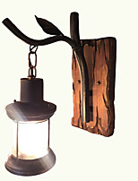 cheap -Wall Light Ambient Light Wall Sconces 3W 220V E14 Rustic/Lodge Bronze