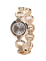 Women's Dress Watch Bracelet Watch Wrist watch Chinese Quartz Alloy Band Luxury Casual Bangle Silver Gold
