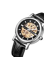 MEGIR Homens Mulheres Relógio Casual Relógio de Moda Relógio Elegante Relógio de Pulso Automático - da corda automáticamente Couro