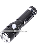 U'King LED Flashlights / Torch LED 1000 lm 3 Mode Cree T6 Portable Durable Camping/Hiking/Caving Everyday Use Cycling/Bike Hunting Fishing