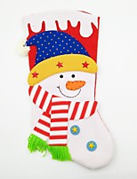 Large Non-Woven Fabric Christmas Stocking Christmas Ornament Snowman