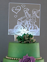 Cake Topper Romance Acrylic Classic Couple Plastic Sports & Outdoor 53 1 Gift Box