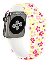economico -Cinturino per orologio  per Apple Watch Series 3 / 2 / 1 Apple Custodia con cinturino a strappo Cinturino sportivo Silicone