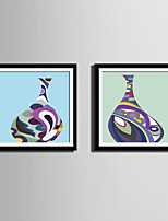 Still Life Abstract Fantasy Framed Canvas Framed Set Wall Art,PVC Material With Frame For Home Decoration Frame Art Living Room Kitchen