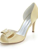economico -Da donna Scarpe Raso Primavera Estate Decolleté scarpe da sposa A stiletto Punta aperta Fiocco Perle di imitazione Per Matrimonio Serata