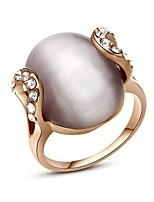 bijoux ovale plaqué or élégant des femmes pour la soirée de partie