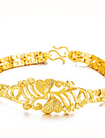 cheap -Women's Chain Bracelet Bracelet Floral Asian Lovely Fashion Gift Gold Plated Jewelry For Wedding Daily