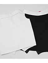 Dog Shirt / T-Shirt Dog Clothes Breathable Stylish Solid White Black Costume For Pets