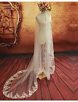 Недорогие -Один слой Цветочный дизайн Сетка Платье-трансформер Декоративные Свадьба Euramerican Длинный Украшения для волос Свадебные вуали Соборная