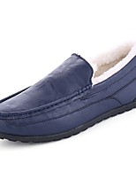 Men's Shoes PU Spring Fall Moccasin Loafers & Slip-Ons for Casual Black Dark Blue Khaki