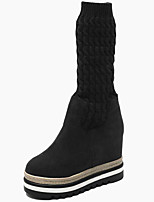 cheap -Women's Shoes Fur Fall Winter Snow Boots Fashion Boots Boots Mid-Calf Boots For Casual Party & Evening Coffee Black