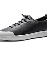 cheap -Men's Shoes Leather Spring Fall Comfort Sneakers For Casual Office & Career Gray Black