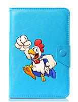 abordables -caja universal de la cubierta del soporte del cuero de la PU del gallo de la historieta para 7 pulgadas 8 pulgadas 9 pulgadas tableta de