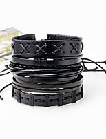 Men's Bracelet Oversized Rock Hiphop Statement Jewelry Cord Dermis Jewelry Jewelry For Daily Casual