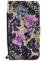 Кейс для Назначение SSamsung Galaxy J7 (2017) J5 (2017) Кошелек Бумажник для карт со стендом Флип С узором Чехол Бабочка Твердый