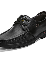 Men's Shoes PU Spring Fall Comfort Oxfords For Outdoor Dark Brown Light Brown Black