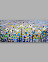 cheap -Hand-Painted Floral/Botanical Horizontal,Modern One Panel Canvas Oil Painting For Home Decoration