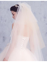 cheap -Four-tier Modern/Contemporary Modern Style Simple Style Bridal Princess Wedding Wedding Veil Elbow Veils 53 Fringe Lace Tulle