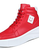 cheap -Men's Shoes Synthetic Microfiber PU PU Leatherette Spring Fall Comfort Sneakers For Casual Red Black White
