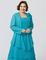 cheap -Long Sleeves Chiffon Wedding Party / Evening Women's Wrap With Beading Floral Coats / Jackets