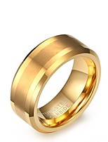 Men's Band Rings Vintage Elegant Gold Steel Circle Jewelry For Wedding Party Engagement Daily