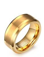 preiswerte -Herrn Bandringe Retro Elegant Gold Stahl Kreisform Schmuck Für Hochzeit Party Verlobung Alltag