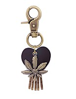 cheap -Keychains Jewelry Leather Alloy Leaf Heart Vintage Fashion School Holiday