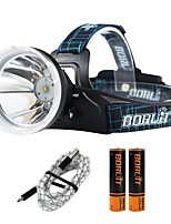 Boruit® B10 Headlamps 550 lm 4 Mode Cree XM-L L2 Professional Adjustable High Quality Camping/Hiking/Caving Everyday Use Police/Military