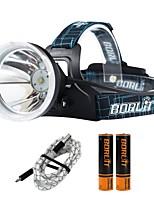 Boruit® B10 Torce frontali 550 lm 4.0 Modo Cree XM-L L2 Professionale Regolabili Alta qualità Campeggio/Escursionismo/Speleologia Uso
