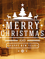cheap -Animals Christmas Words & Quotes Wall Stickers Plane Wall Stickers 3D Wall Stickers Decorative Wall Stickers Wedding Stickers,Paper Vinyl