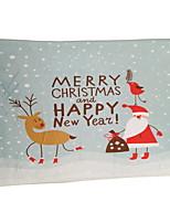 Père Noël et le cerf flocage tapis de mousse plastique