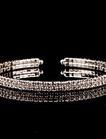 cheap -Women's Cuff Bracelet Cubic Zirconia Rhinestone Vintage Elegant Silver Circle Jewelry For Wedding Evening Party